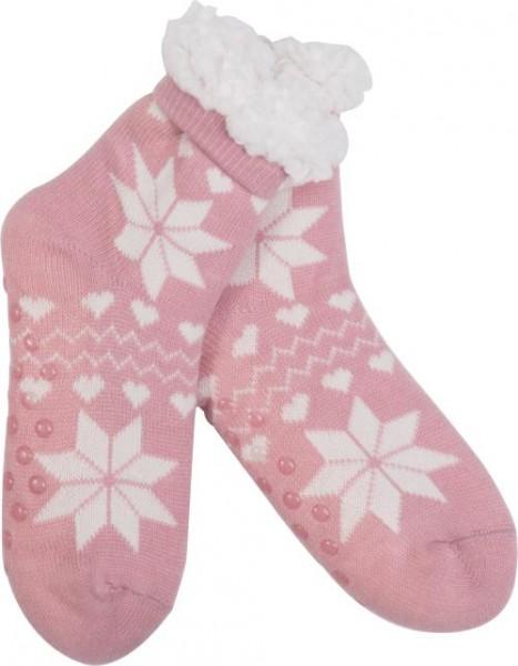 Goldline Norwegersocken, Hüttensocken,rosa, weiss bei HIKO Eventdeko