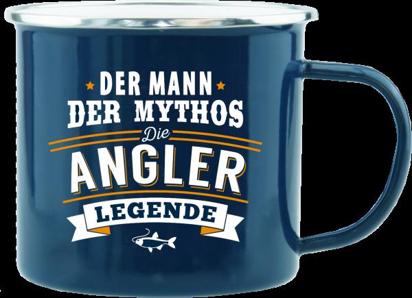 History & Heraldry Echte Kerle Becher Angler Emaille Becher Kaffeebecher Kaffeepott