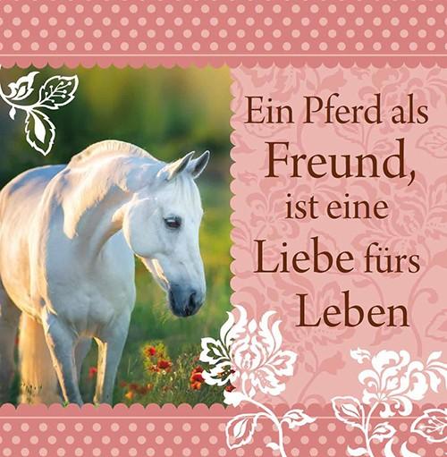 H & H Romantisches Geschirrtuch Ein Pferd als Freund....