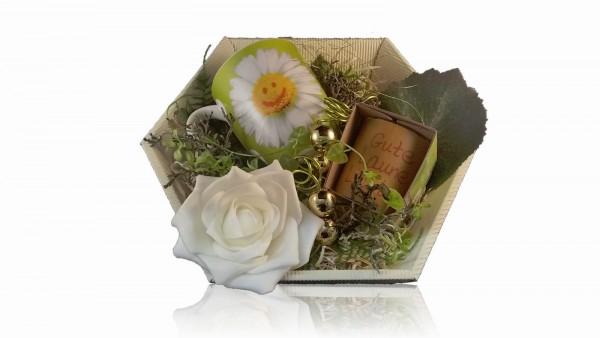 La Vida Geschenkset für Dich 2-teilig Becher und Teelicht für Dich - Gute Laune