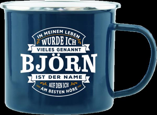 History & Heraldry Echte Kerle Björn Emaille Becher Kaffeebecher Kaffeepott