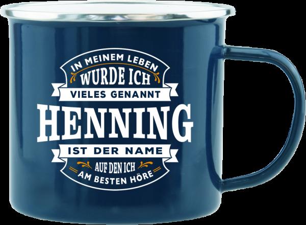 History & Heraldry Echte Kerle Becher Henning Emaille Becher Kaffeebecher Kaffeepott