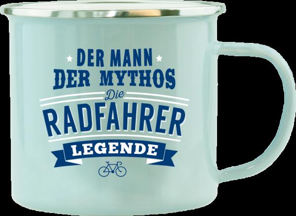 History & Heraldry Echte Kerle Radfahrer Emaille Becher Kaffeebecher Kaffeepott