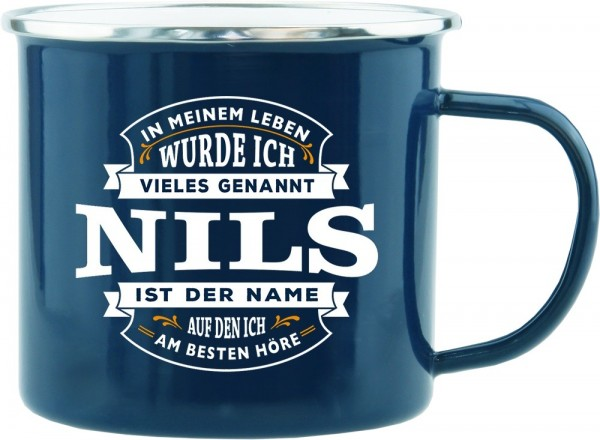 History & Heraldry Echte Kerle Becher Nils Emaille Becher Kaffeebecher Kaffeepott