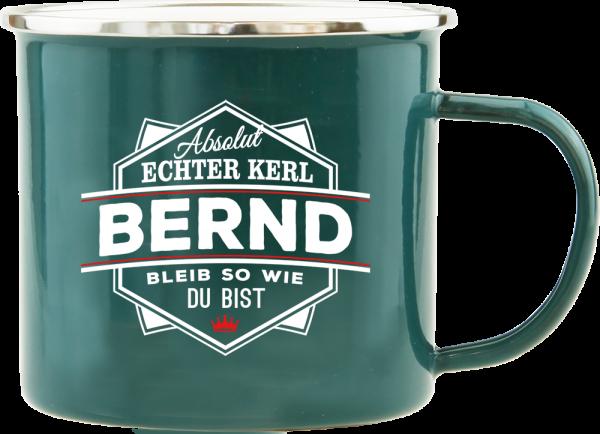 History & Heraldry Echte Kerle Bernd Emaille Becher Kaffeebecher Kaffeepott