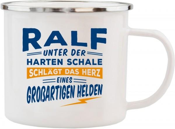 History & Heraldry Echte Kerle Becher Ralf Emaille Becher Kaffeebecher Kaffeepott