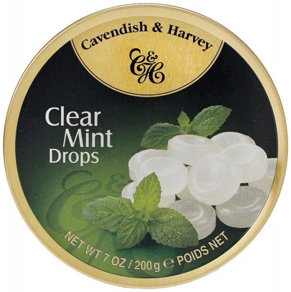 Cavendish & Harvey - Clear Mint Drops - Bonbons - 200g in Metalldose
