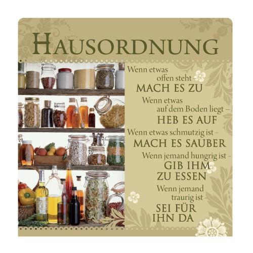 Geschirrtuch Hausordnung, H & H, History Heraldry bei HIKO Eventdeko
