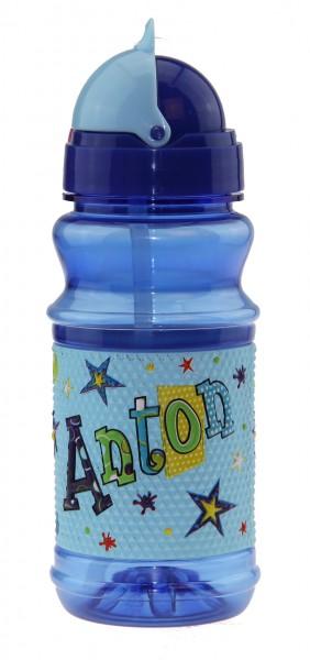 Trinkflasche mit Namen für Kinder Anton