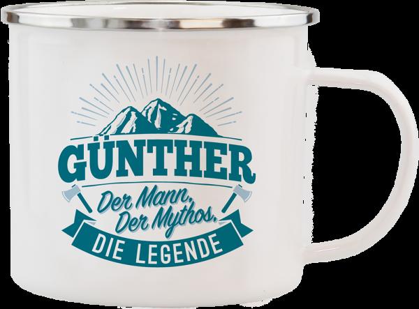 History & Heraldry Echte Kerle Becher Günther Emaille Becher Kaffeebecher Kaffeepott