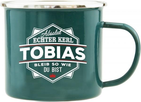 History & Heraldry Echte Kerle Becher Tobias Emaille Becher Kaffeebecher Kaffeepott
