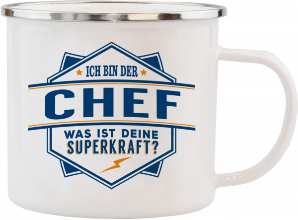History & Heraldry Echte Kerle Chef Emaille Becher Kaffeebecher Kaffeepott