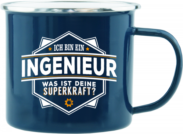 History & Heraldry Echte Kerle Ingenieur Emaille Becher Kaffeebecher Kaffeepott