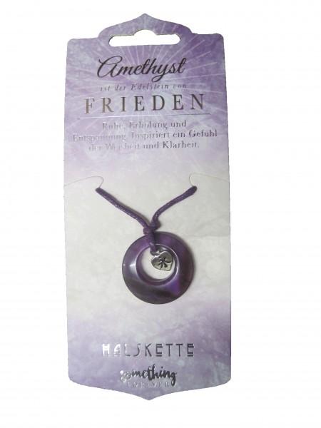 Edelstein-Geschenke Halskette, Heilstein, Amethyst,Frieden