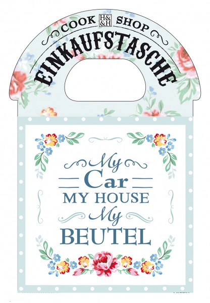 H & H Cook Shop Einkkaufstasche My Car My House My Beutel
