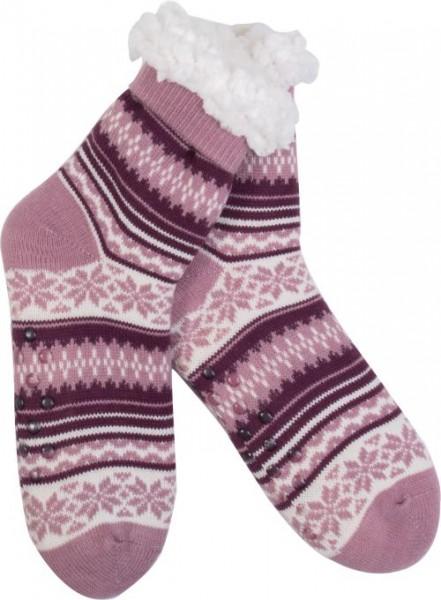 Goldline Norwegersocken, Hüttensocken,gestreift, rosa bei HIKO Eventdeko