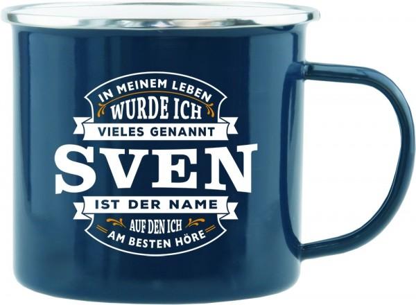History & Heraldry Echte Kerle Becher Sven Emaille Becher Kaffeebecher Kaffeepott