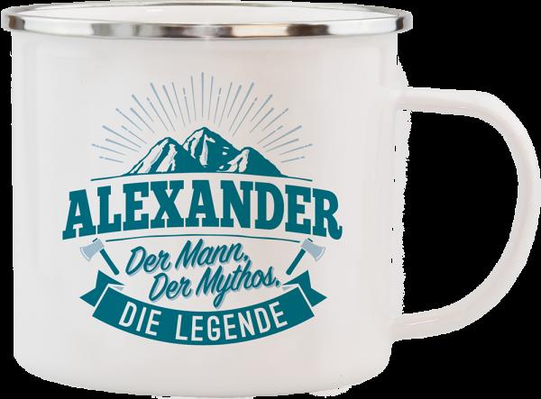 History & Heraldry Echte Kerle Alexander Emaille Becher Kaffeebecher Kaffeepott