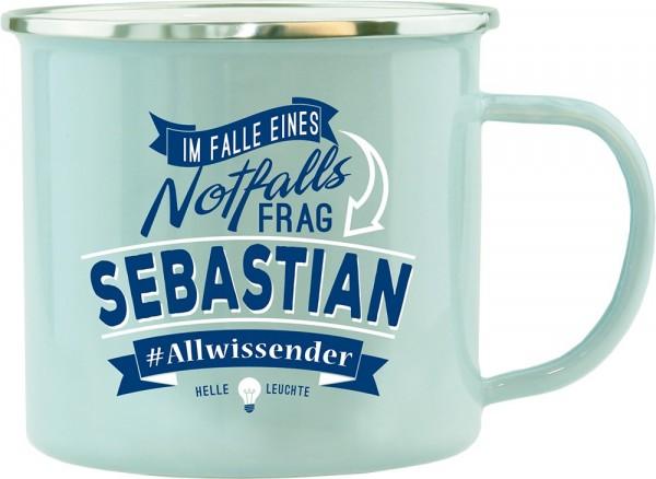 History & Heraldry Echte Kerle Becher Sebastian Emaille Becher Kaffeebecher Kaffeepott