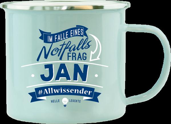 History & Heraldry Echte Kerle Becher Jan Emaille Becher Kaffeebecher Kaffeepott