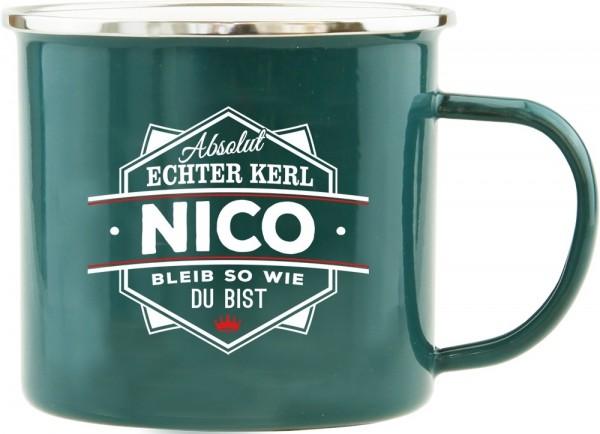 History & Heraldry Echte Kerle Becher Nico Emaille Becher Kaffeebecher Kaffeepott