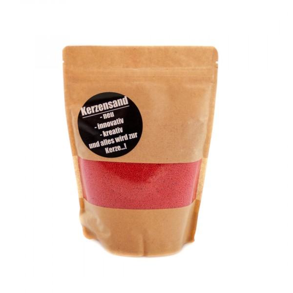 KERZENSAND rot (inkl. 2 Dochte á 20cm) - Palmwachs Wachsgranulat 400g