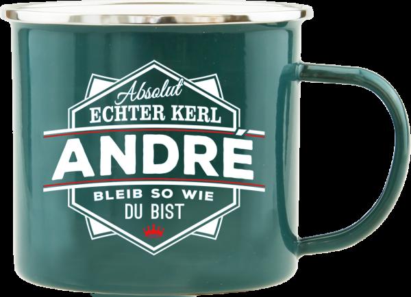 History & Heraldry Echte Kerle André Emaille Becher Kaffeebecher Kaffeepott