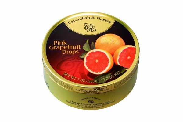 Cavendish & Harvey - Pink Grapefruit Drops - Bonbons - 200g in Metalldose