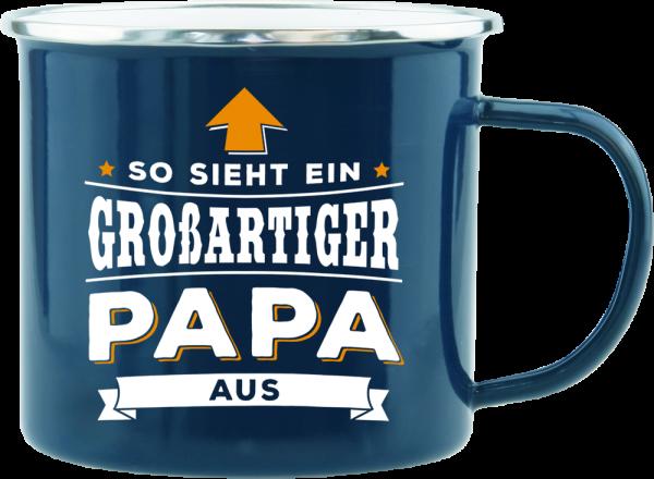 History & Heraldry Echte Kerle Becher Papa Emaille Becher Kaffeebecher Kaffeepott