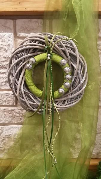 Türkranz Wandkranz 35 cm mit apfelgrün