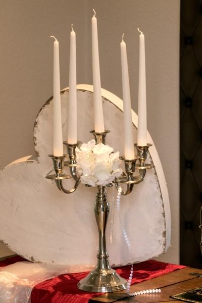 Edelstahl Kerzenständer, Kerzen, Hochzeit, Wedding 40 cm