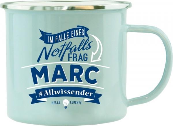 History & Heraldry Echte Kerle Becher Marc Emaille Becher Kaffeebecher Kaffeepott