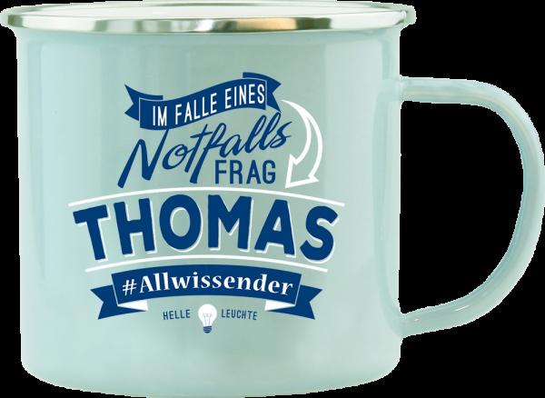 History & Heraldry Echte Kerle Becher Thomas Emaille Becher Kaffeebecher Kaffeepott