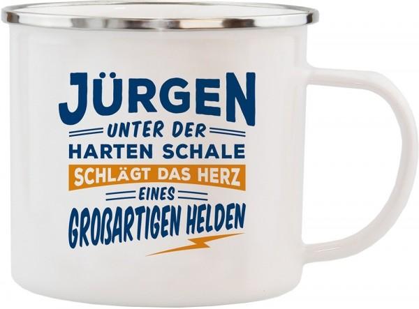 History & Heraldry Echte Kerle Becher Jürgen Emaille Becher Kaffeebecher Kaffeepott