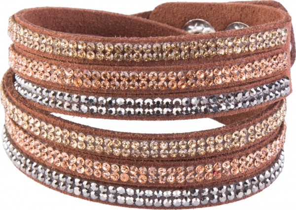 Goldline - COMBINATION 4 YOU JEWELRY® - Crystal Line Armband Wickelarmband 8