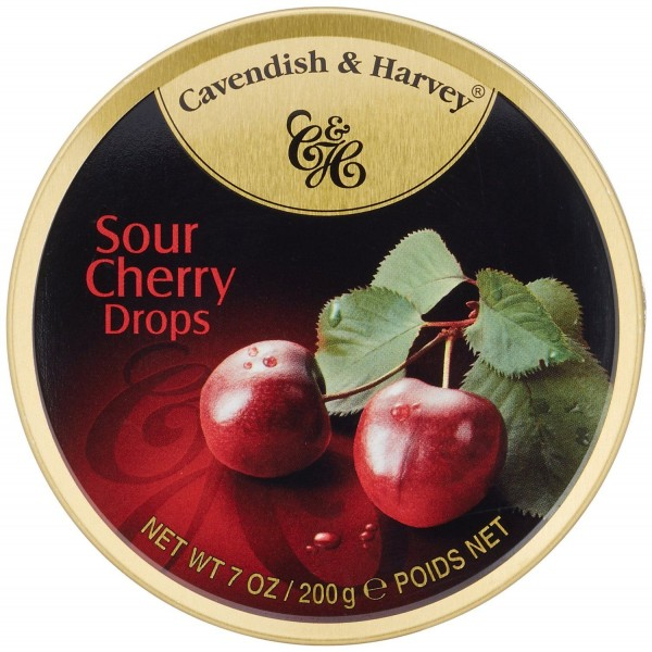 Cavendish & Harvey - Kirsche - Sour Cherry Drops - Bonbons - 200g in Metalldose