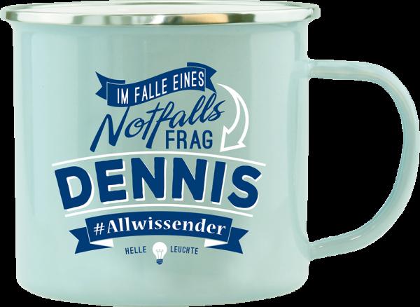 History & Heraldry Echte Kerle Dennis Emaille Becher Kaffeebecher Kaffeepott