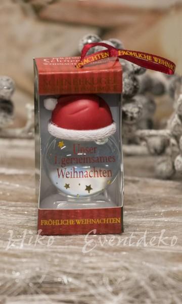 H&H History Heraldry Schneekugel, personalisiert, Unser 1. gemeinsames Weihnachten,für die Weihnachtszeit