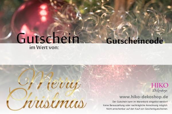 Gutschein Nr.3 Merry Christmas / rot