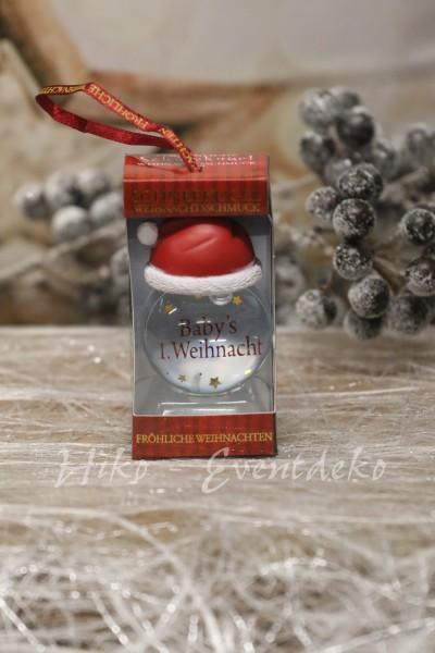 H&H History Heraldry Schneekugel, personalisiert, für die Weihnachtszeit  Babys 1.Weihnachten