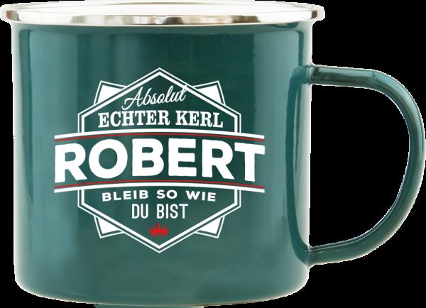 History & Heraldry Echte Kerle Becher Robert Emaille Becher Kaffeebecher Kaffeepott