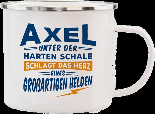 History & Heraldry Echte Kerle Axel Emaille Becher Kaffeebecher Kaffeepott