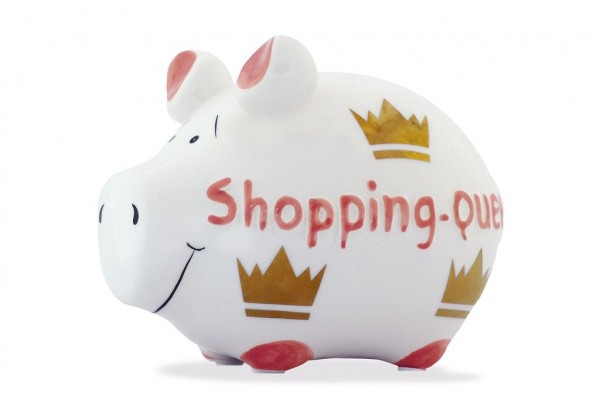 Spardose - Shopping-Queen - lustiges Sparschwein von KCG