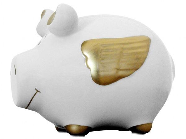 Lustiges Sparschwein - Engelschwein - Sparbüchse von Kawlath's Coole Geschenke
