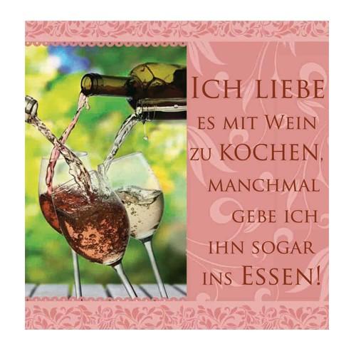 Geschirrtuch Ich liebe es mit Wein... H & H, History Heraldry bei HIKO Eventdeko