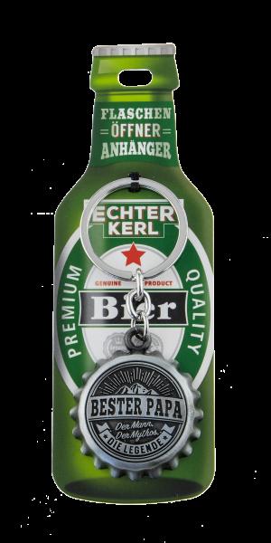 H&H Flaschenöffner - Bester Papa - Echter Kerl Flaschenöffner Anhänger Schlüsselanhänger