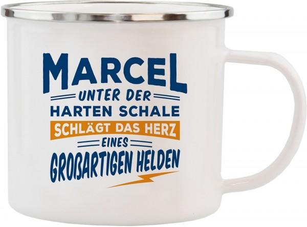 History & Heraldry Echte Kerle Becher Marcel Emaille Becher Kaffeebecher Kaffeepott