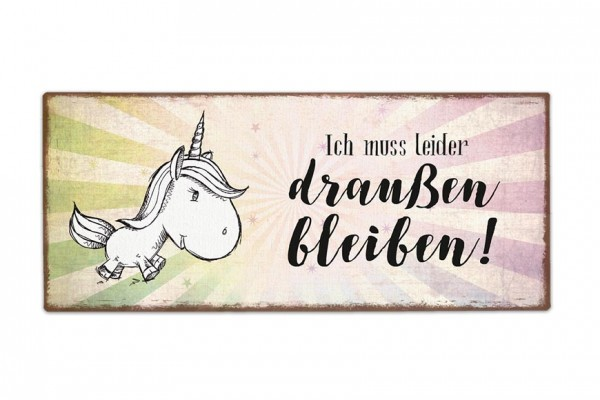 La Vida - Schild für Dich - Einhorn