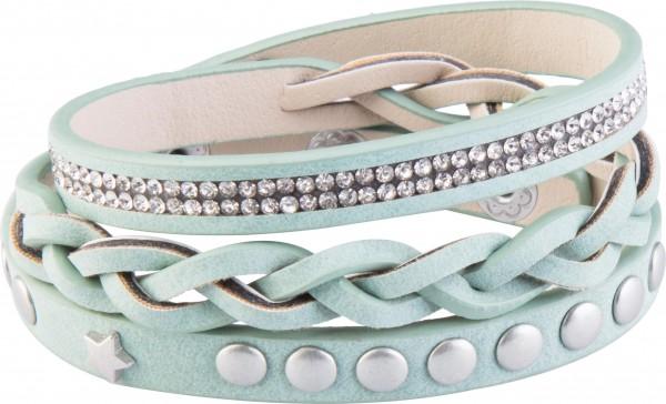 Goldline - COMBINATION 4 YOU JEWELRY® - Crystal Line Armband Wickelarmband 39
