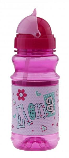 Trinkflasche mit Namen für Kinder Elena